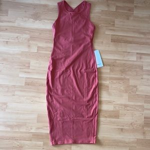 Lululemon Picnic Play Midi Dress size 4 Brick Rose